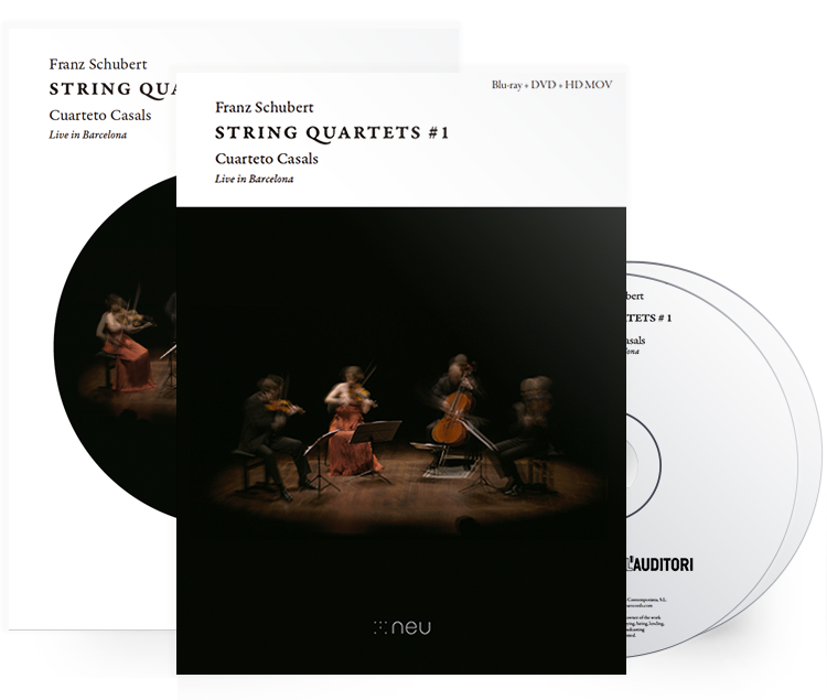 FRANZ SCHUBERT - DVD - STRING QUARTETS # 1 - Live in Barcelona